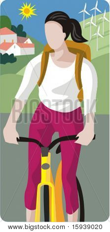 Ecology concept vector illustration series. Cycling. Check my portfolio for much more of this series as well as thousands of other great vector items.