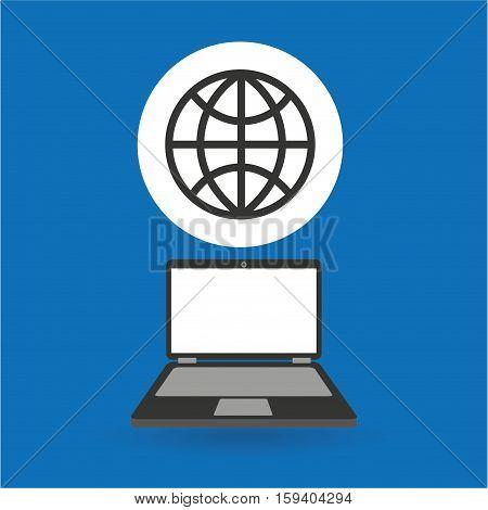 computer analysis data globe world vector illustration eps 10