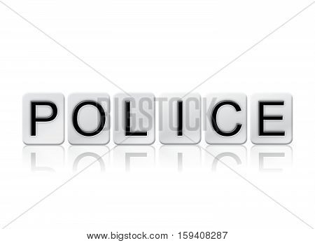 Police Isolated Tiled Letters Concept And Theme