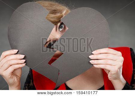 Girl Hiding Her Face.