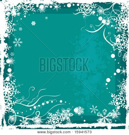 Winter grunge background series, vector illustration.