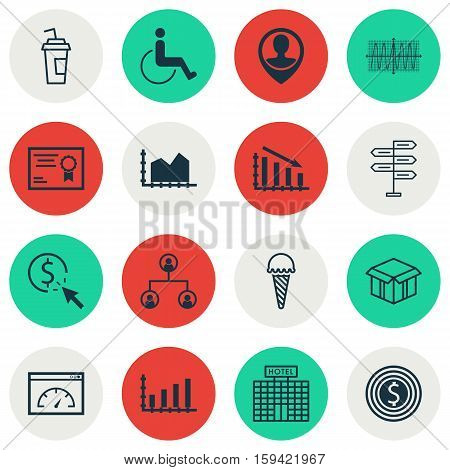 Set Of 16 Universal Editable Icons. Can Be Used For Web, Mobile And App Design. Includes Icons Such As Frozen Food, Loading Speed, Dynamics And More.