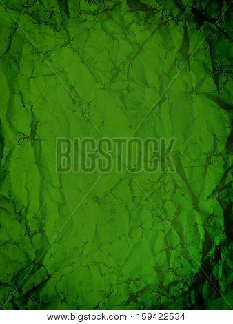 Wrinkled Green Paper