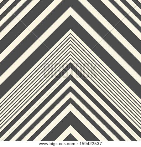 Seamless ZigZag Pattern. Abstract Black and White Background. Vector Regular Stripe Texture. Minimal Zig Zag Monochrome Design.