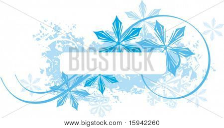 Exquisite winter background series with snowflakes and ornamental details, vector illustration.