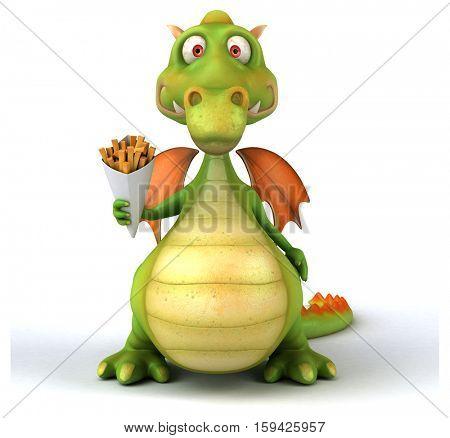 Fun dragon - 3D Illustration