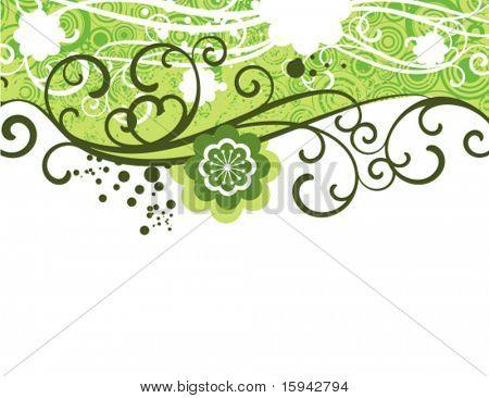 Floral design with ornamental details, vector illustration series.