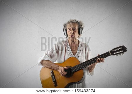 Grandmother still loving music