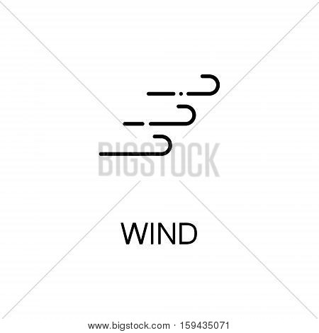 Wind flat icon. Single high quality outline symbol of autumn for web design or mobile app. Thin line signs of wind for design logo, visit card, etc. Outline pictogram of wind
