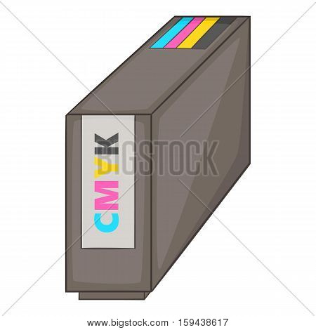 Continuous ink supply system icon. Cartoon illustration of ink supply system vector icon for web design
