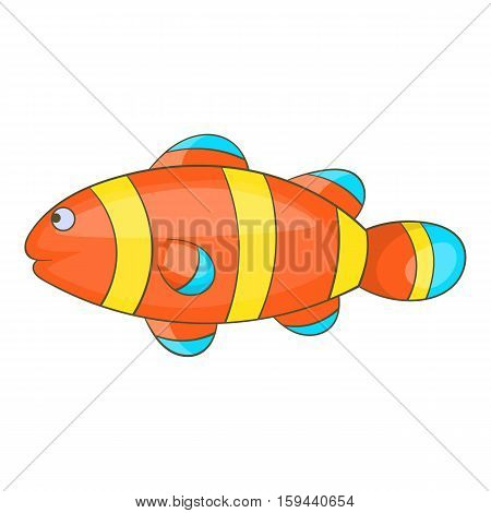Clown fish icon. Cartoon illustration of clown fish vector icon for web