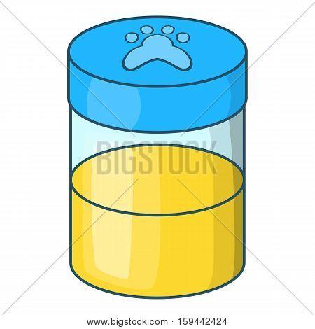 Pets urine sample icon. Cartoon illustration of pets urine sample vector icon for web