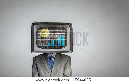 Man with TV instead of head