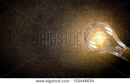 Electric bulb on texture