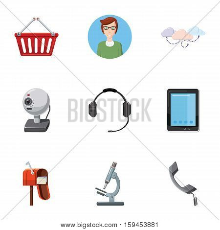 Consultation icons set. Cartoon illustration of 9 consultation vector icons for web