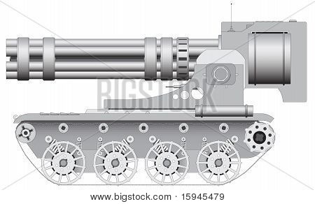 Fantastic Gun On Crawler - Illustration