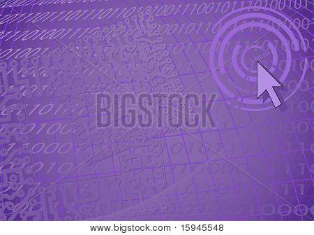 Violet Fantastic Background