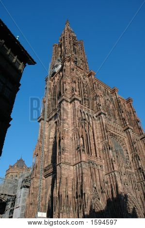 Cathedral De Norte-Dame In Strasbourg, France