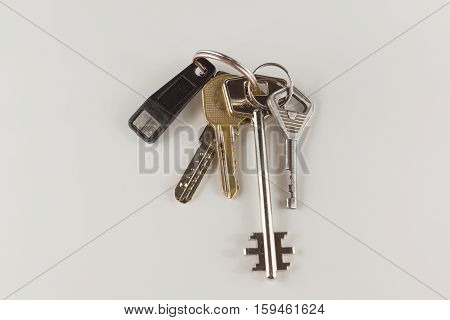the bunch of different keys from the door locks