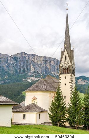 Church of Saint Giacomo and Saint Leonardo in Alta Badia - Dolomites of Italy