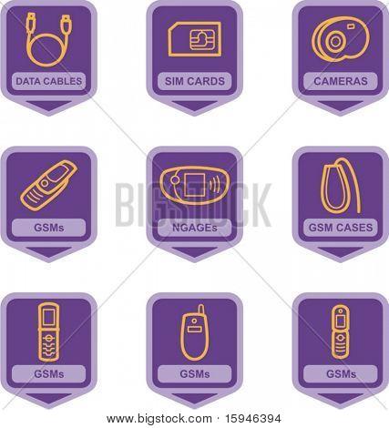 Piktogramm Serie Telekommunikation, waren es