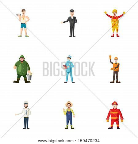Activities icons set. Cartoon illustration of 9 activities vector icons for web