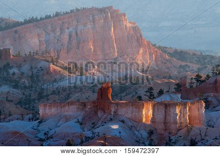 Sinking ship rock in Bryce Canyon National Park
