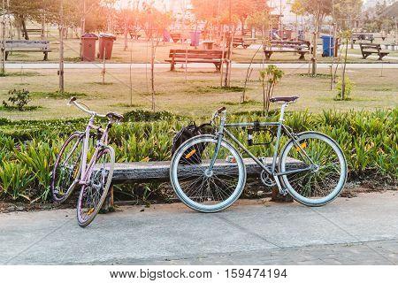 Bikes At Villa-lobos Park In San Paulo (sao Paulo), Brazil (brasil)