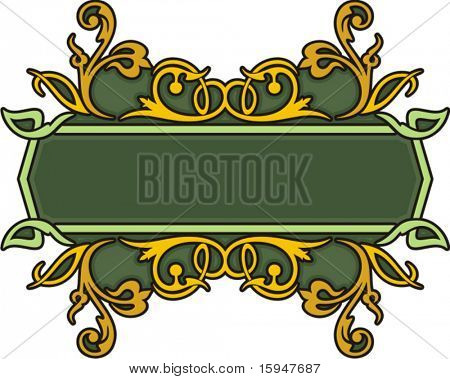 CLEAN and EXQUISITE color panel with ornamental elements. All vectors are ready for vinyl cutting as well.