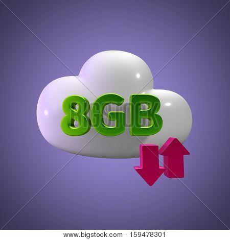 3d rendering cloud download upload 8  gb capacity