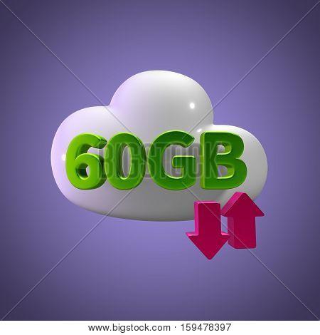 3d rendering cloud download upload 60  gb capacity