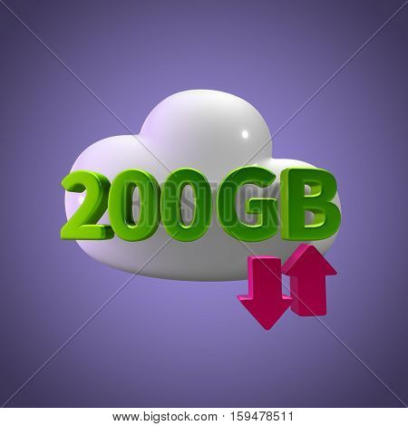 3d rendering cloud download upload 200 gb capacity