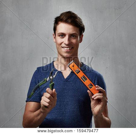 Man with pliers