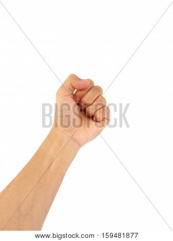 The use of hand gestures, a handful,strong,fight