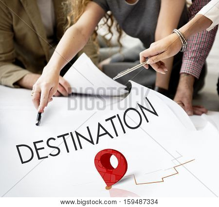 Route Navigation Map Location Journey GPS Concept