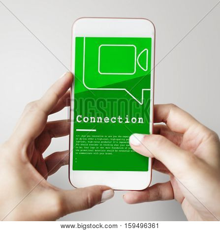 Communication Connection Teleconference Network Concept