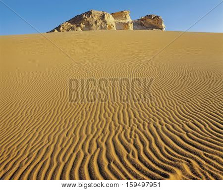 Rocky Outcrop in Desert