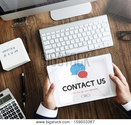 Contact Us Information Support Concept