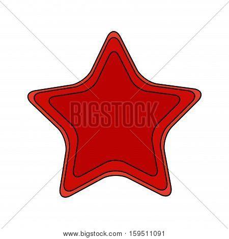 Fishstar icon. Sea life ecosystem fauna and ocean theme. Isolated design. Vector illustration