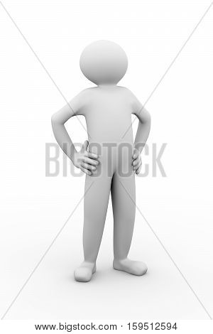 3D Man Proud Hero Gesture