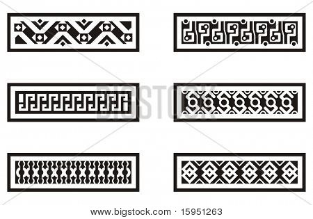 A set of Mexican ornamental designs.