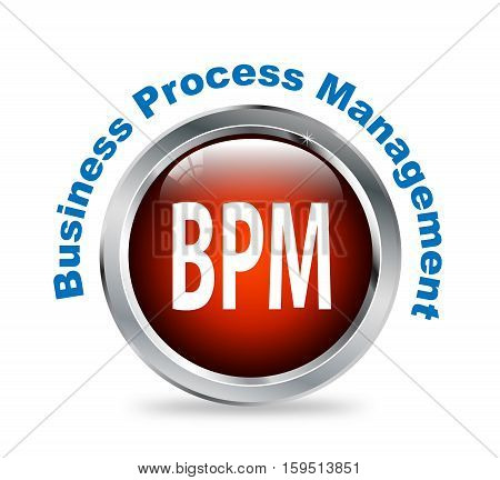 Round Button Of Business Process Management - Bpm