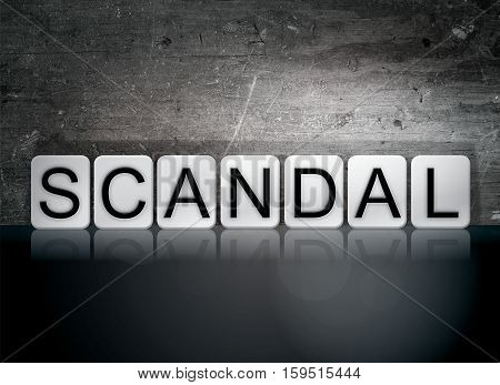 Scandal Tiled Letters Concept And Theme