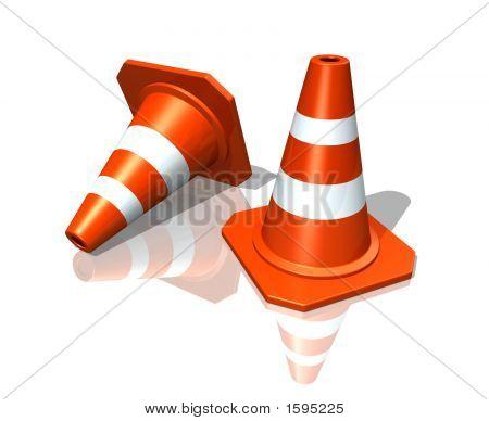 Cones de tráfego