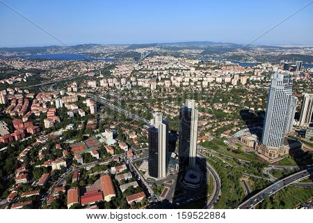 Skyscrapers In Levent district, Istanbul City, Turkey