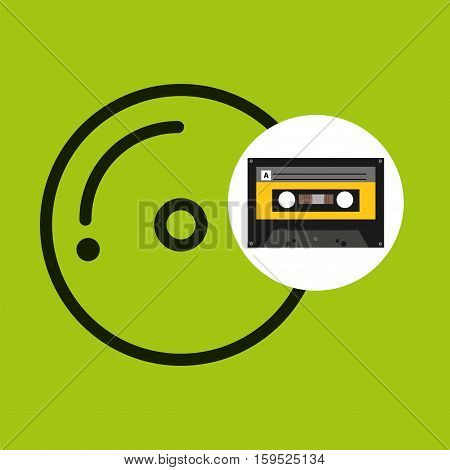 cd compact music cassette tape vector illustration eps 10