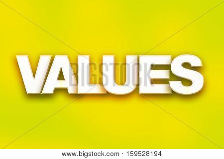 Values Concept Colorful Word Art