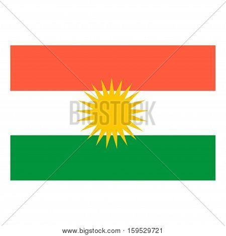 Flag of Kurdistan on a white background