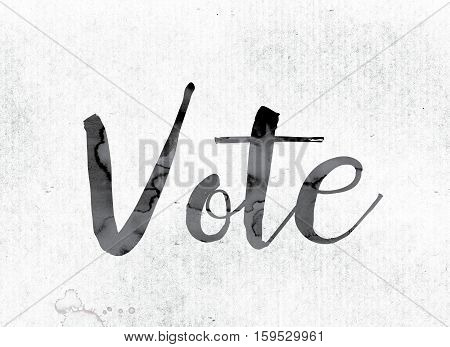 Vote Concept Painted In Ink