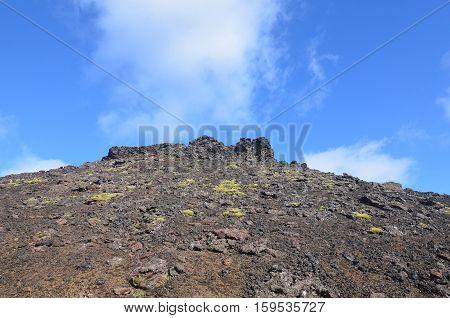 Lava flower from Eldborg Crater on Snaefellsnes Peninsula in Iceland.